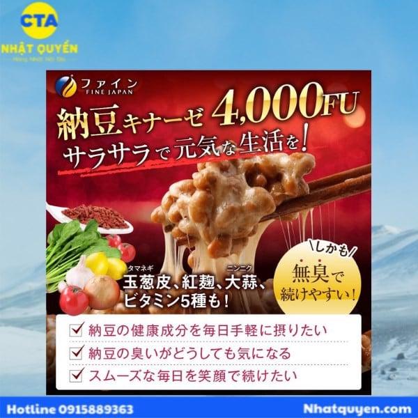 Viên uống Nattokinase 4000FU Fine Japan