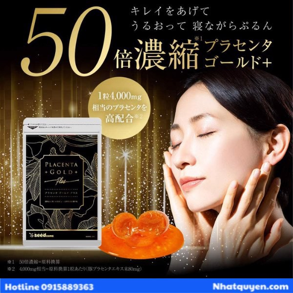 vien uong placenta gold seedcoms