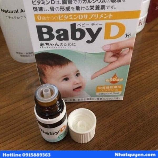 Vitamin D cho trẻ sơ sinh - BABY D Morishita