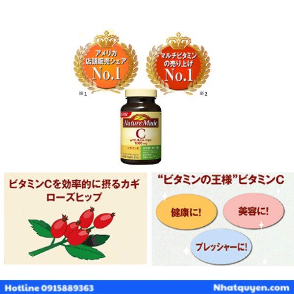 Vitamin C Nature Made 1000mg With Rose Hips