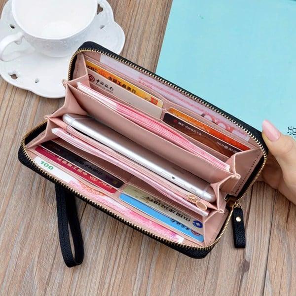 Dùng ví dáng dài sẽ dễ dàng hơn trong việc để tiền