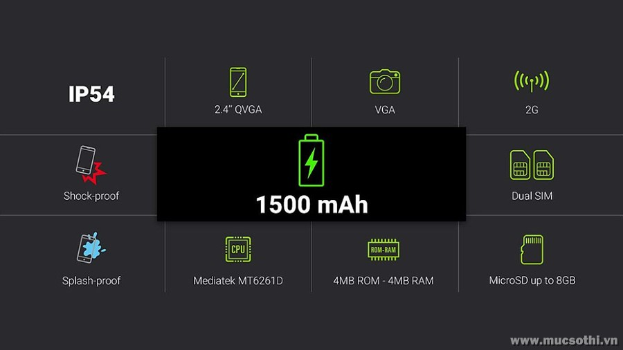 smartphonestore.vn - bán lẻ giá sỉ, online giá tốt điện thoại siêu bền pin trâu Energizer 100 chính hãng - 09175.09195