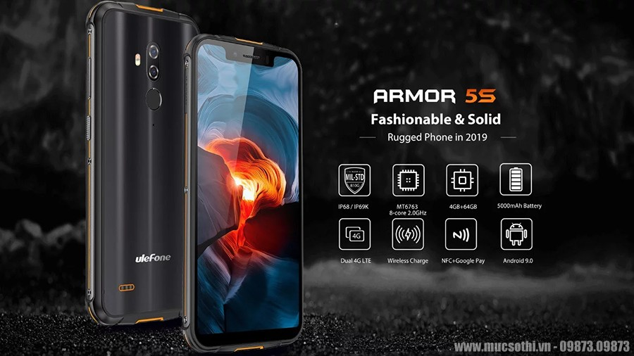 smartphonestore.vn - bán lẻ giá sỉ, online giá tốt smartphone siêu bền ulefone armor 5s chính hãng - 09175.09195