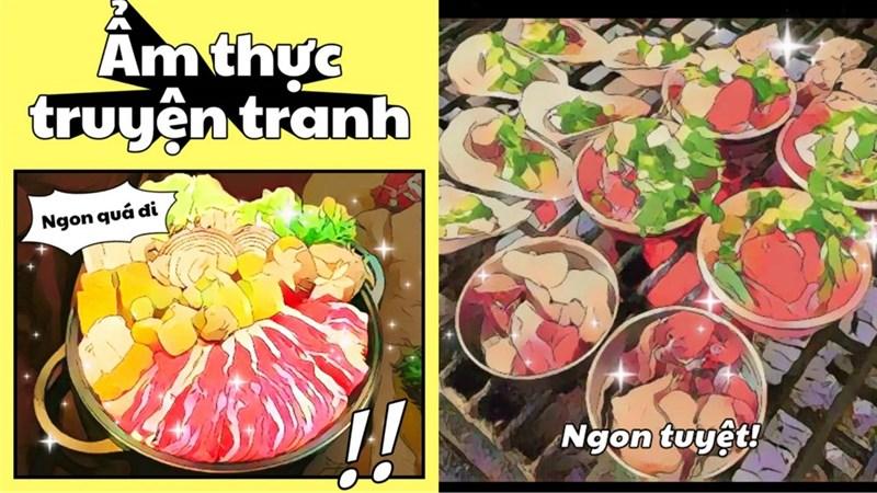 Chuyển ảnh ẩm thực chụp bằng Foodie sang truyện tranh bạn biết chưa? - 09175.09195