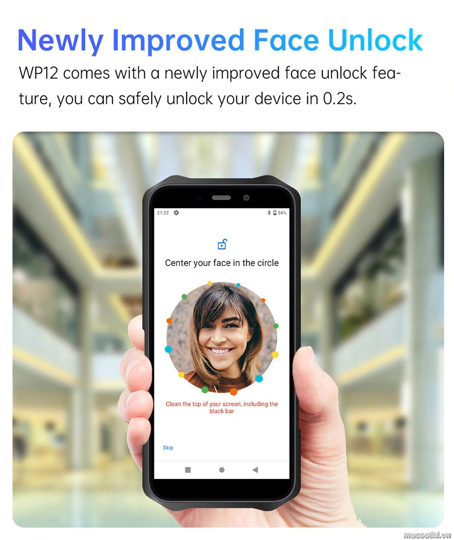 smartphonestore.vn - bán lẻ giá sỉ, online giá tốt smartphone siêu bền oukitel wp12 chính hãng - 09175.09195