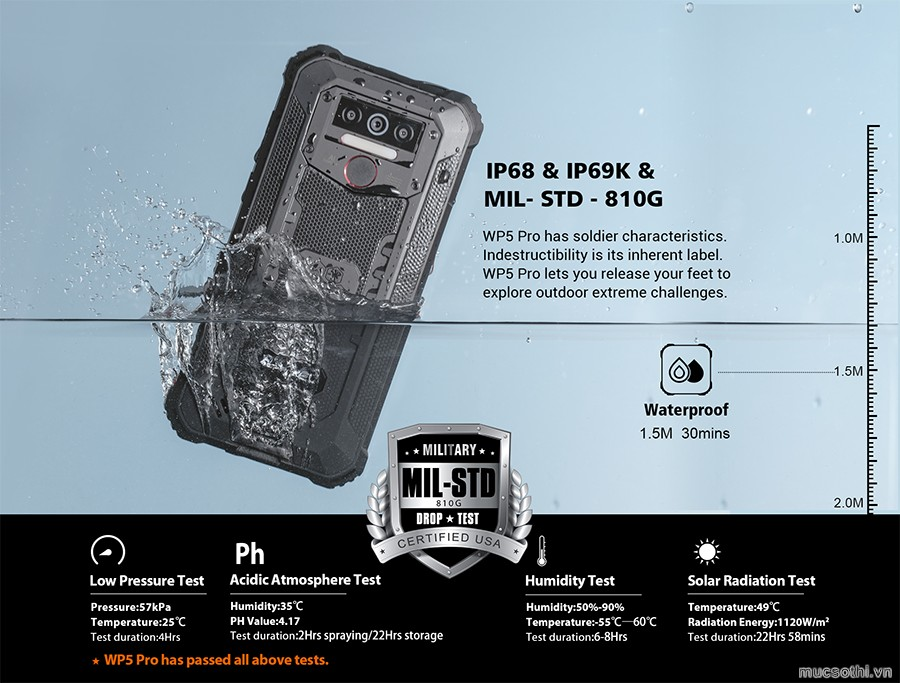 Smartphonestore.vn - Bán lẻ giá sỉ, online giá tốt smartphone siêu bền pin khủng Oukitel WP5 Pro chính hãng - 09175.09195