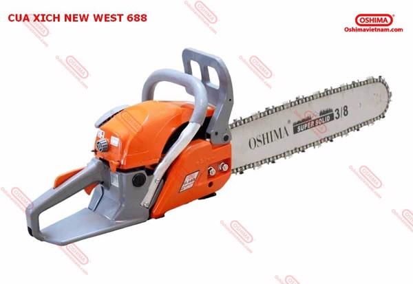 Máy cưa xích new west 688 dễ dàng sử dụng