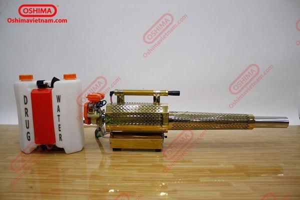 Máy phun khói Oshima 350 có động cơ mạnh giúp tiết kiệm thời gian phun thuốc