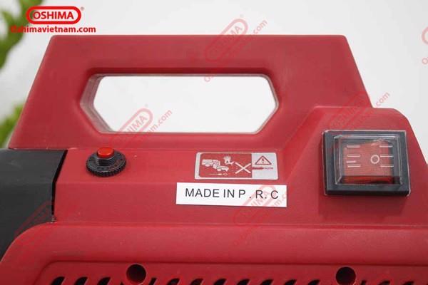 Thiết kế máy nhỏ gọn với công tắc riêng biệt giúp người dùng dễ dàng sử dụng