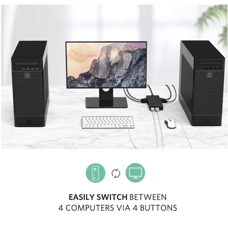 kvm 4 port vga ugreen 50280