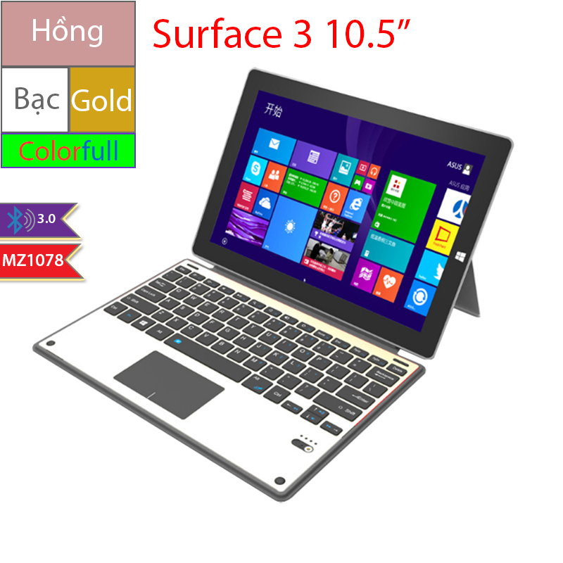 ban phim bluetooth cho surface 3 10.5 inches
