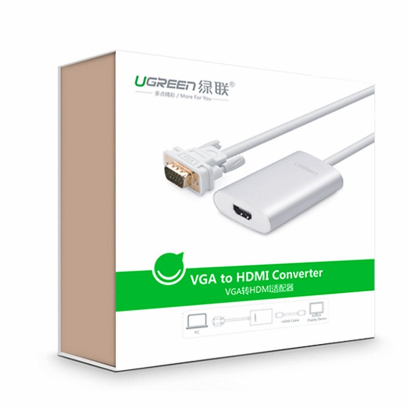 bo chuyen doi vga audio sang hdmi ugreen chnh hang