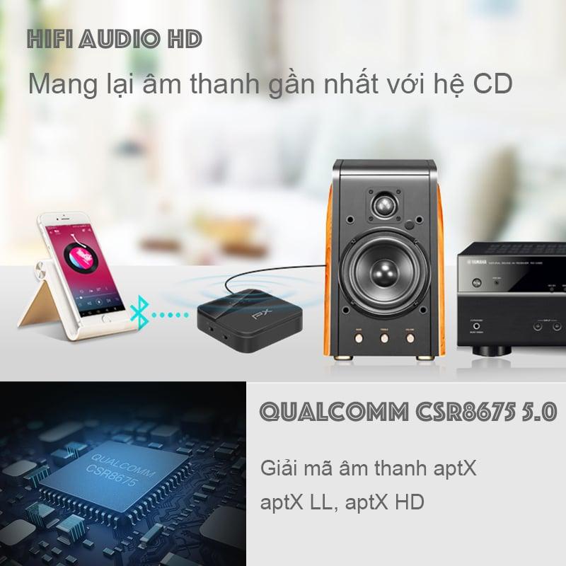 bo thu phat bluetooth cho loa ampli tai nghe smart tv px brx-3000 mini