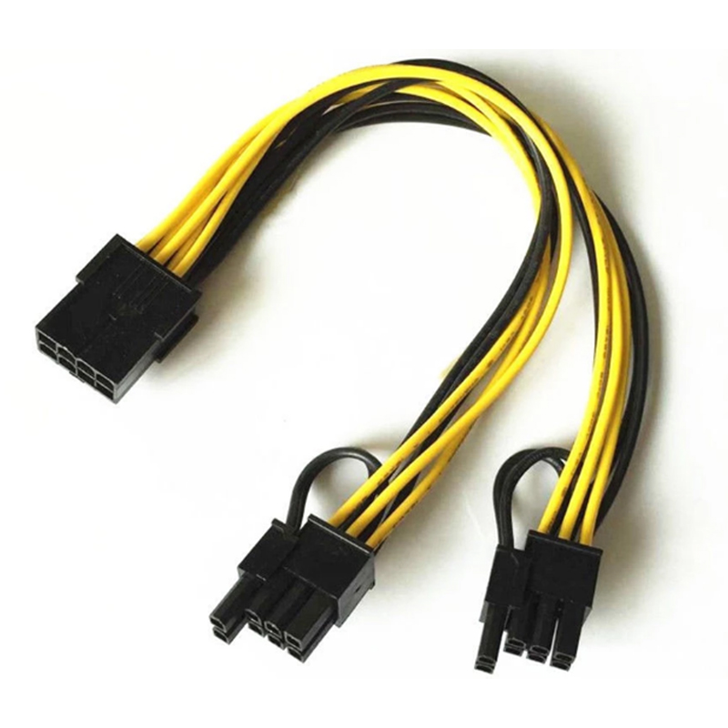 cap nguon molex 8pin ra 2 8 pin 6+2