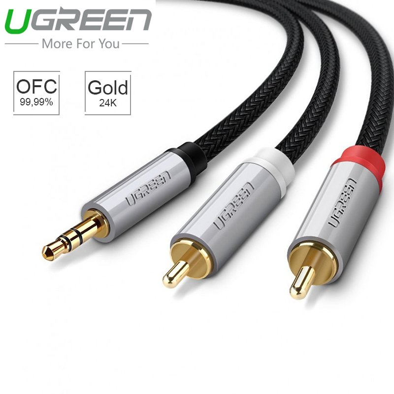 audio 3.5mm ra 2 dau hoa sen av ugreen