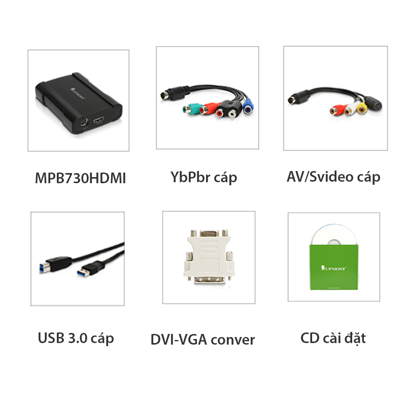 usb 3.0 ghi hinh hdmi/VGA/DVI/S-video/AV/Component 1080P UPMOST MPB730HDMI