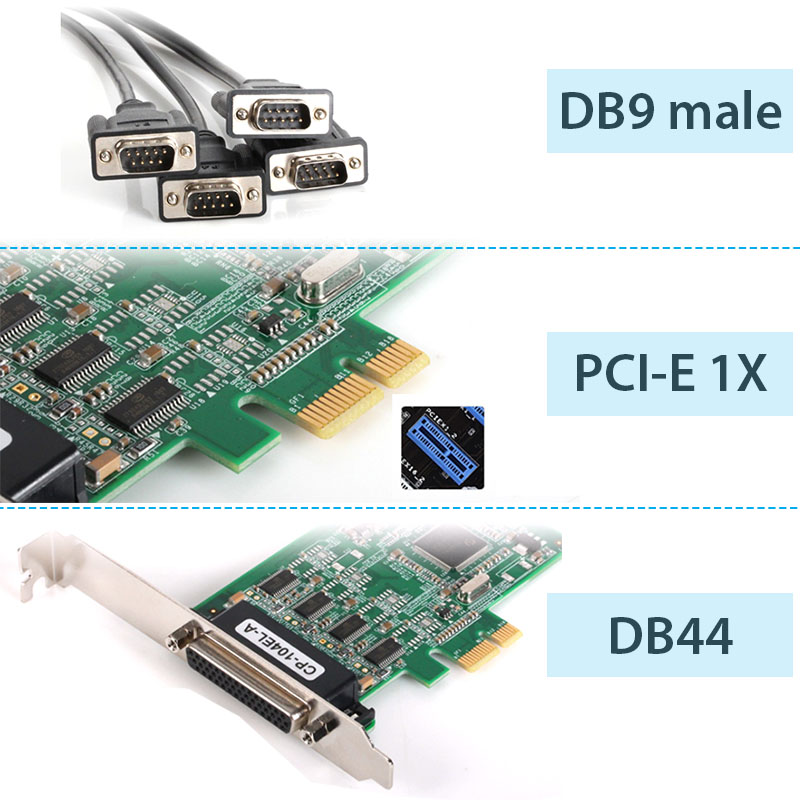 card pci-e 1x ra 4 rs232 moxa cp-104el-a