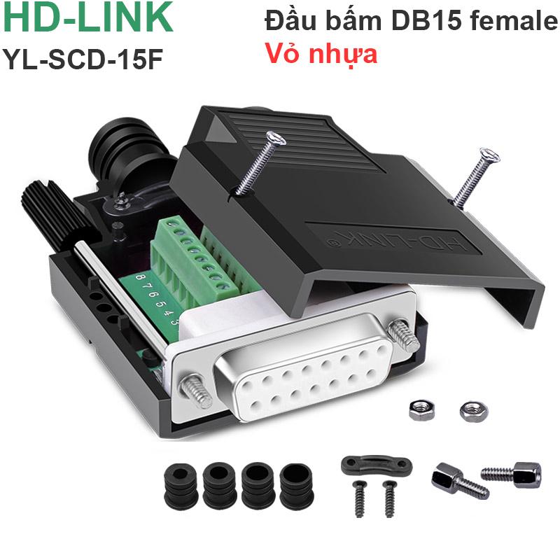 dau bam cap db15 2 hang hd-link
