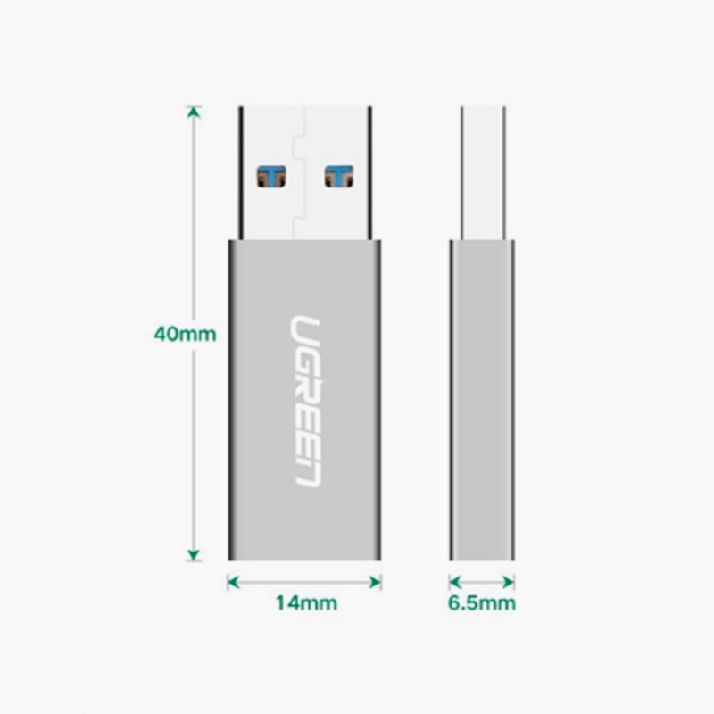 USB 3.0 to usb type-c female ugreen