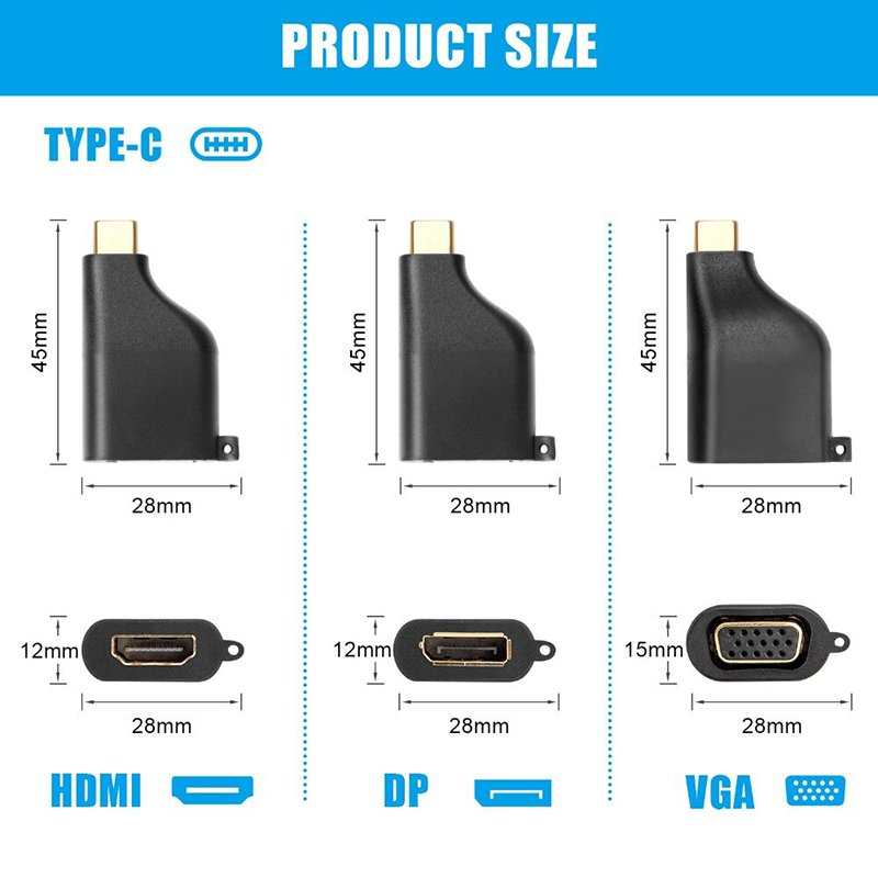 usb-c ra hdmi vga display cabledeconn