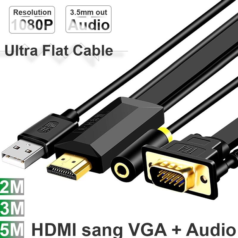 hdmi to vga + audio 2 met 3 met 5 met