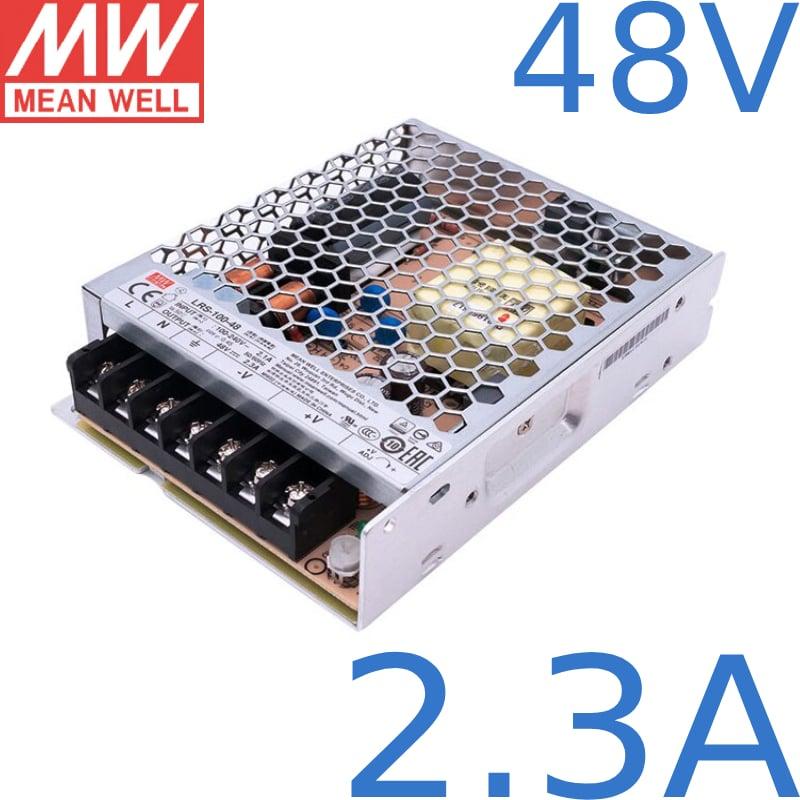 Nguồn DC LED 48V 2.3A 100W Meanwell LRS-100-48 Đài Loan