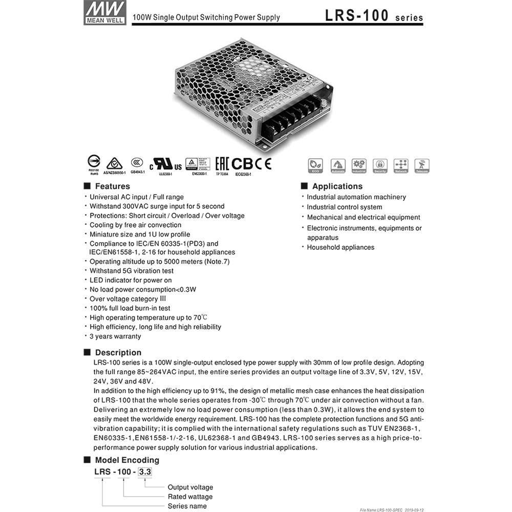 nguon led to ong meanwell lrs-100-24 24v-4.5a 108w