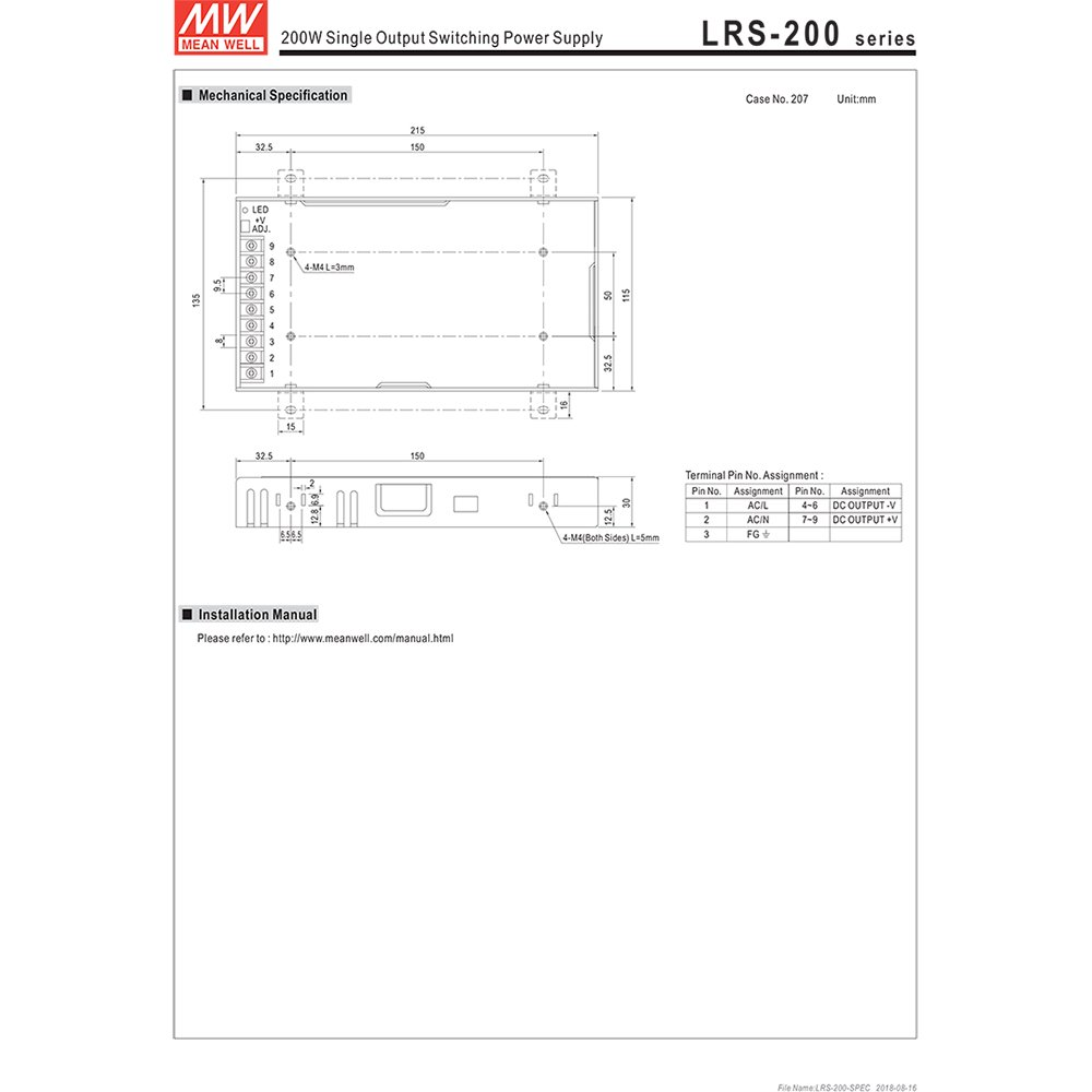 meanwell lrs-200-24
