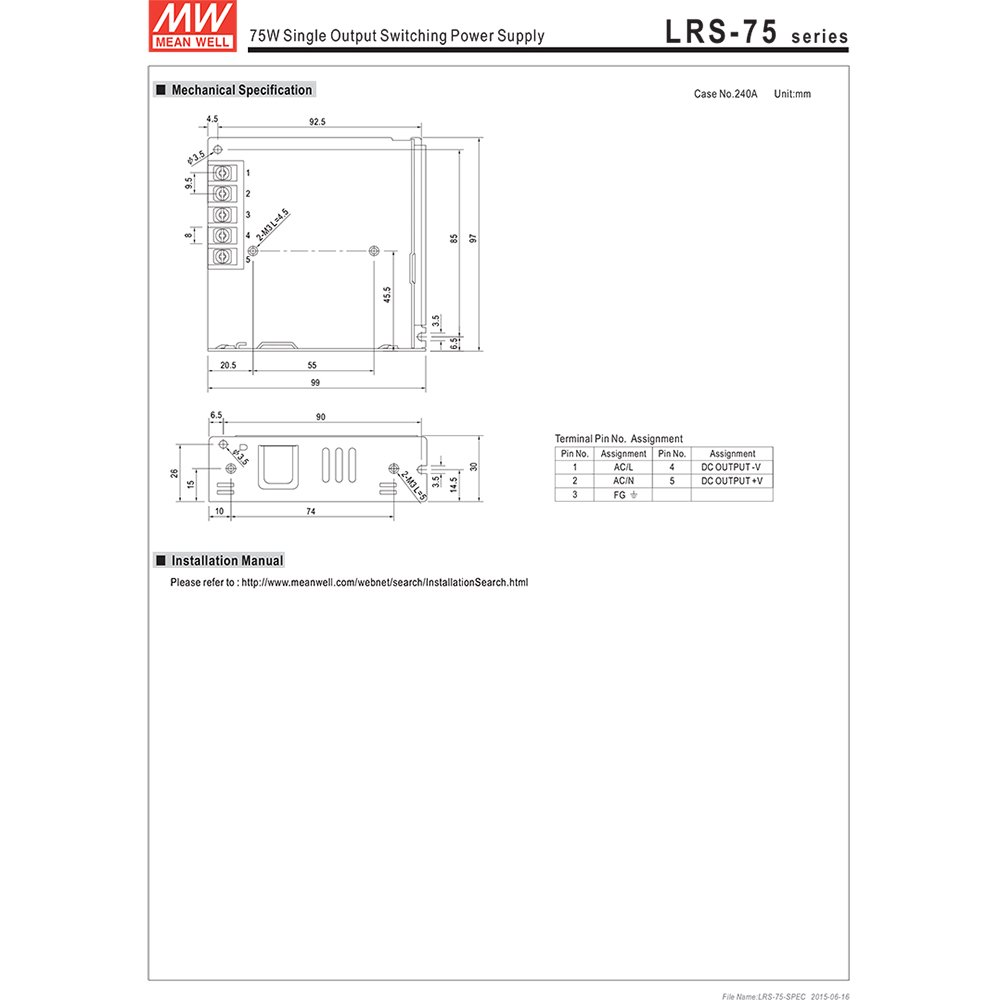 meanwell lrs-75-24
