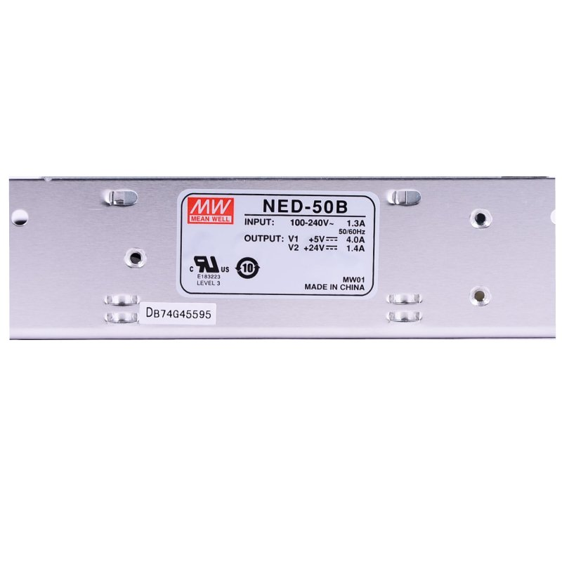 Nguồn DC LED 2 trong 1 24V 5V Meanwell NED-50B Đài Loan