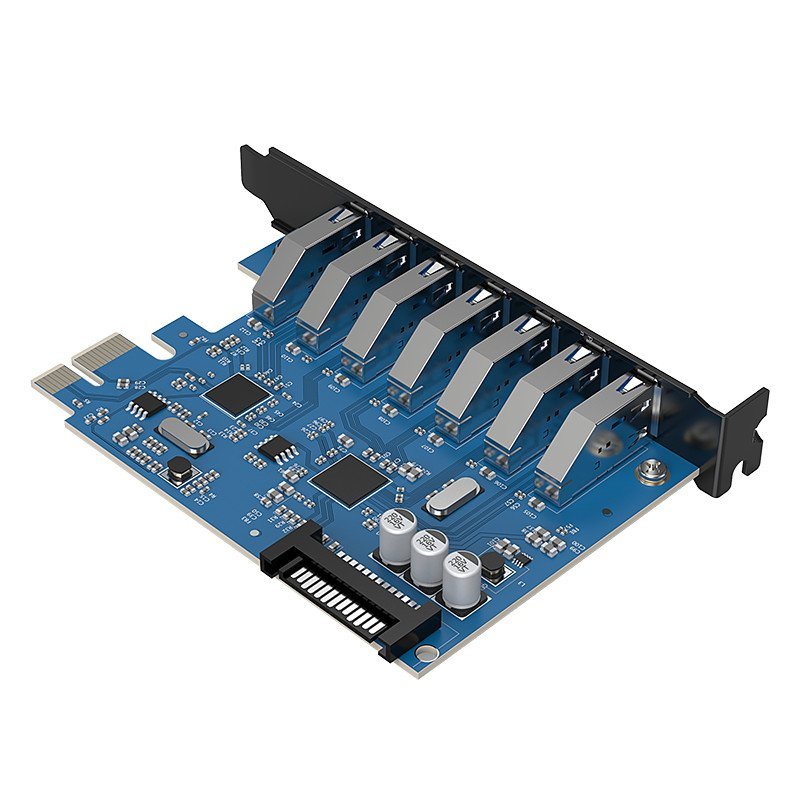 pci-e card usb 3.0 7 port orico pvu3-7p