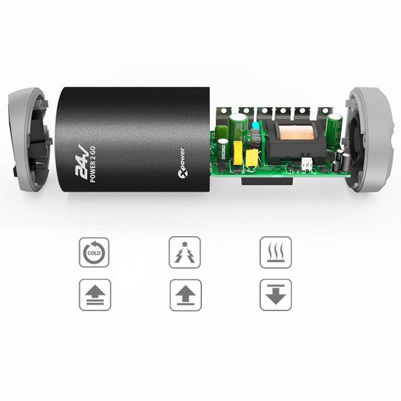 tau do nguon 24vdc sang 220vac và usb 5v2.4a xpower