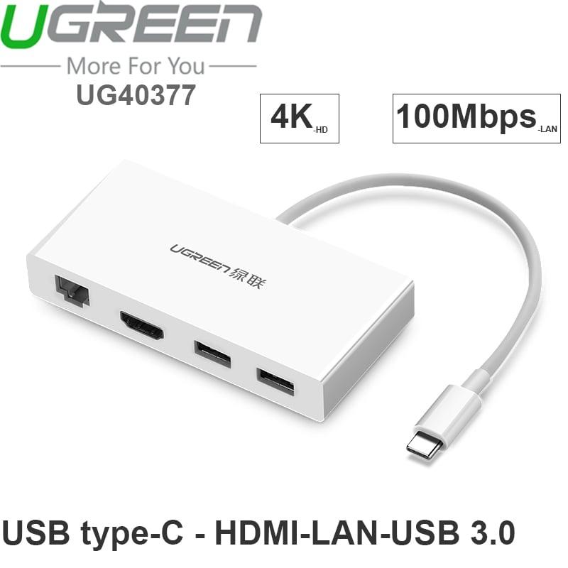usb-c ra hdmi lan usb 3.0 ugreen 40377
