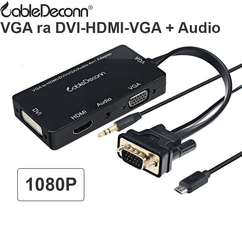 vga sang hdmi dvi vga audio cabledeconn
