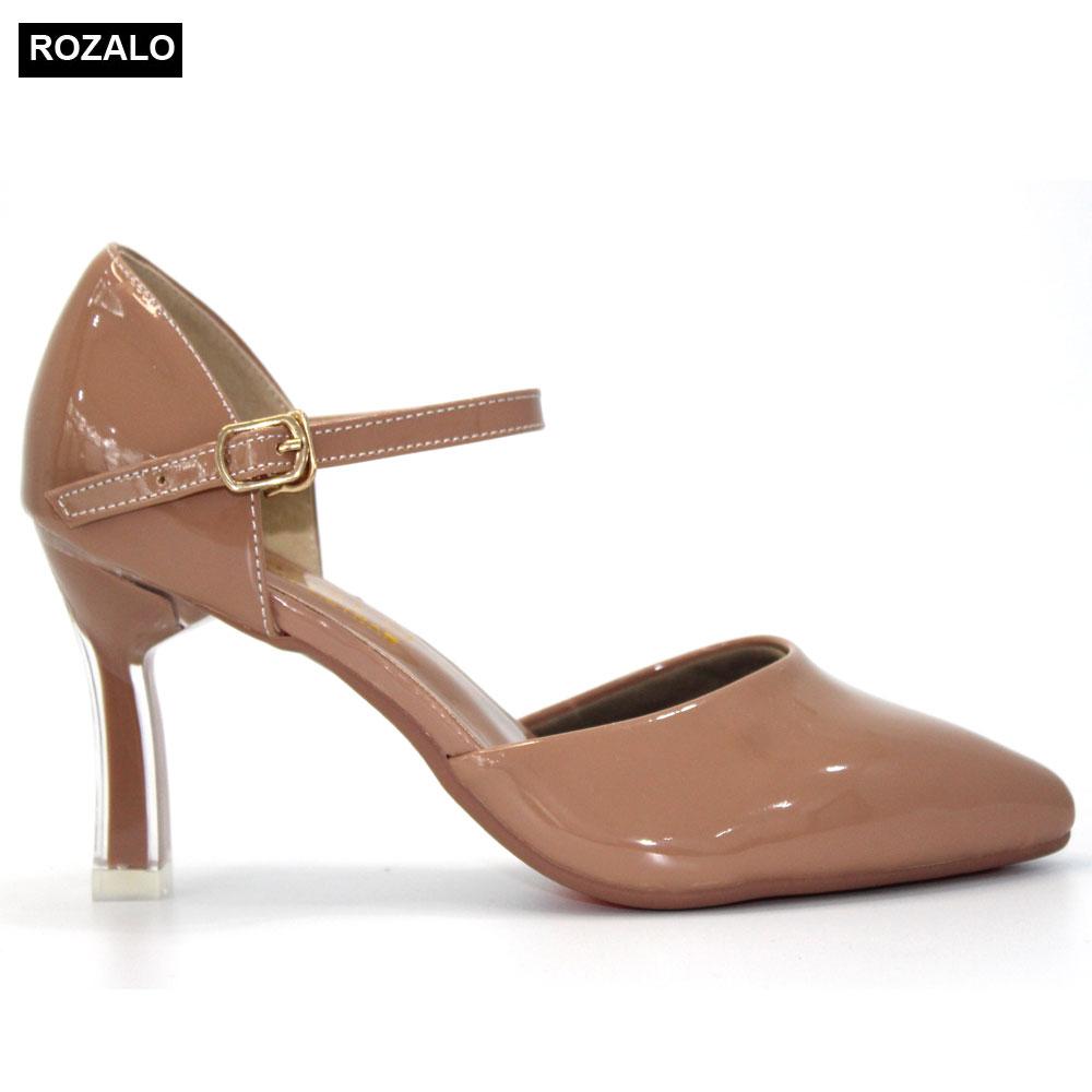 Giày cao gót nữ 7P quai ngang mảnh Rozalo R6517