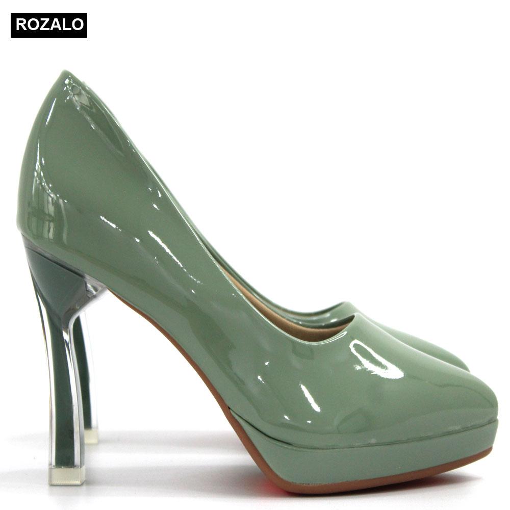 Giày cao gót nữ 9P đế đúp Rozalo R8899