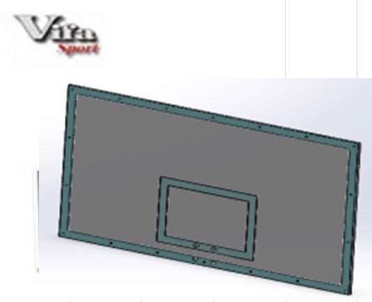 Bảng bóng rổ composite Vifa 800518, Bang bong ro composite Vifa 800518