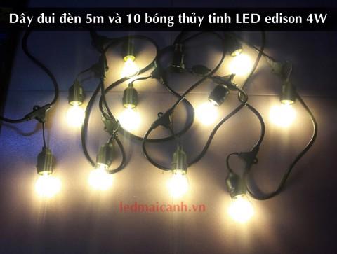 dây bóng đèn 5m 10 bóng ngoài trời