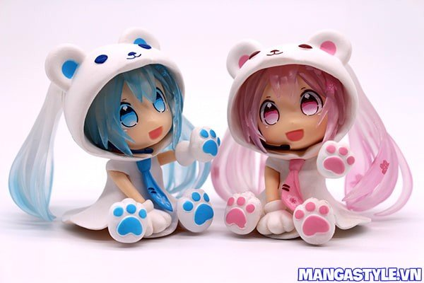 Figure Miku Snow Miku Bear Vs Miku Sakura Bear Vocaloid