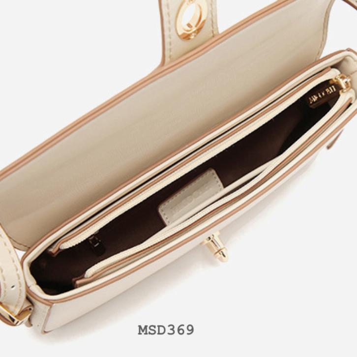 Túi xách thời trang nữ Micocah đơn giản màu nâu nude MSD369-2