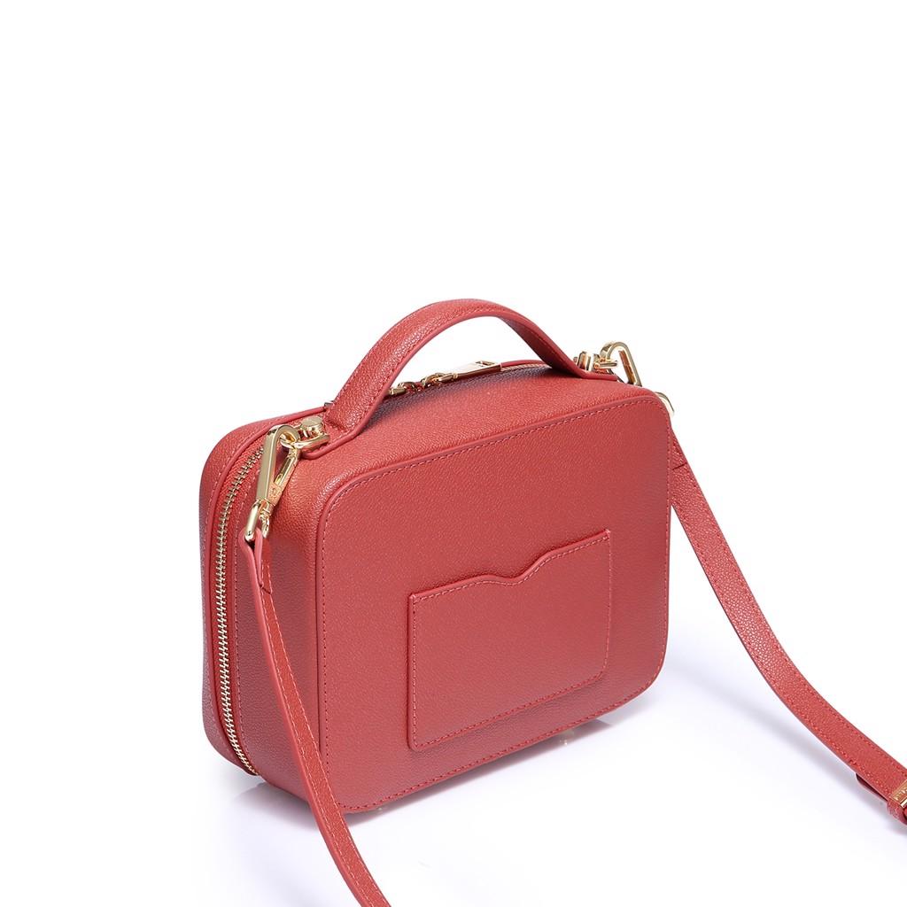 Túi xách nucelle phom chữ nhật mau đỏ sang trọng