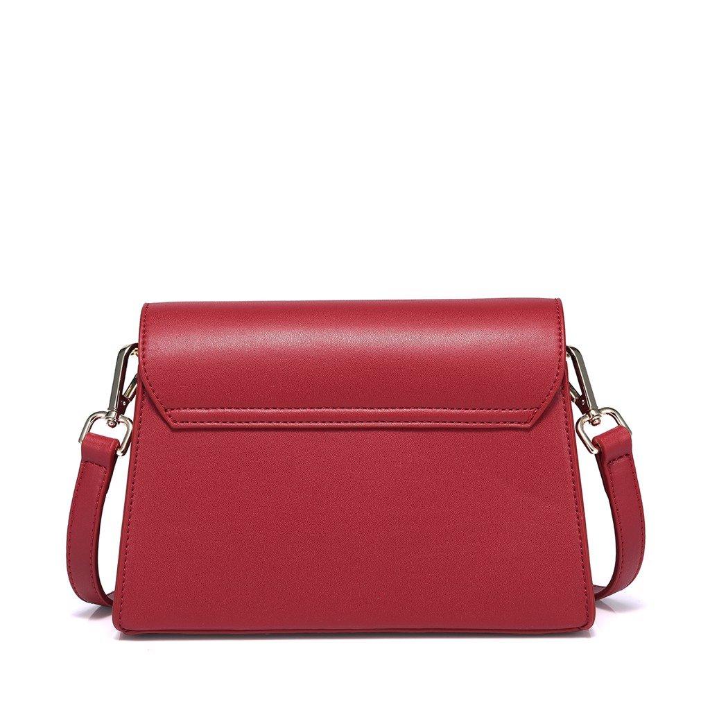 Túi đeo chéo khóa tròn dễ thương Just Star màu đỏ 181022-02
