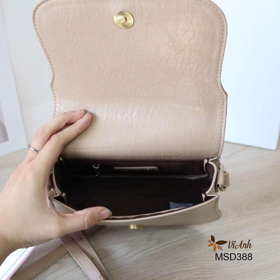 Túi đeo chéo Micocah phom bầu trẻ trung màu kem MSD388-3