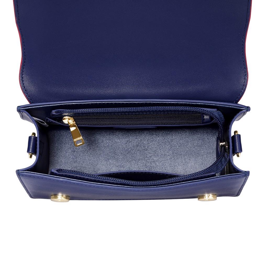 Túi đeo chéo nắp trắng Nucelle phối viền sang trọng  1171442-08