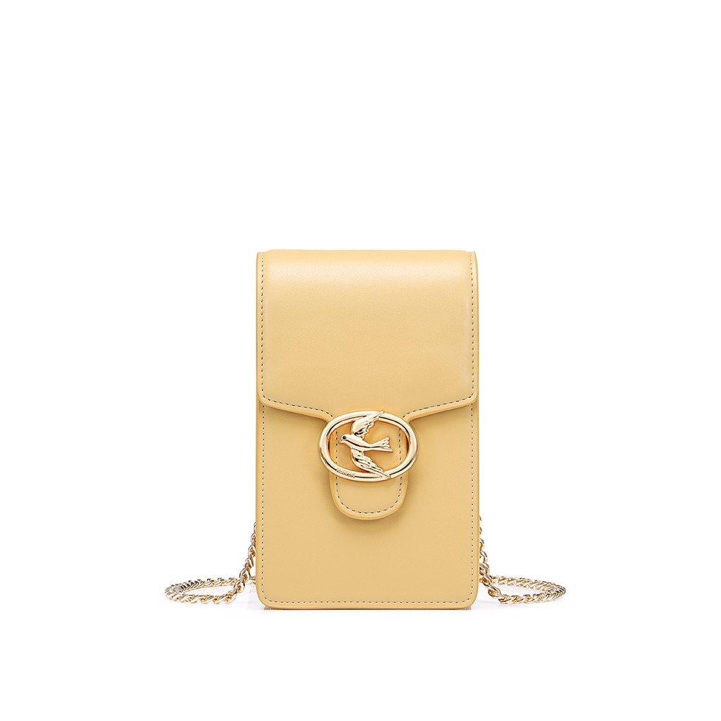 Túi điện thoại Nucelle khóa chim sang trọng màu vàng 1171656-03