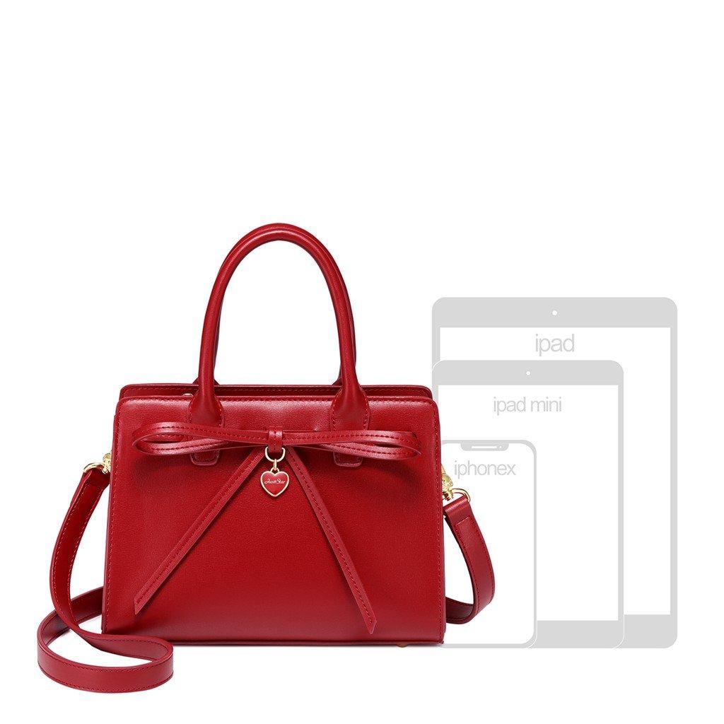 Túi Just Star đỏ 172266-02 charm nơ sang trọng
