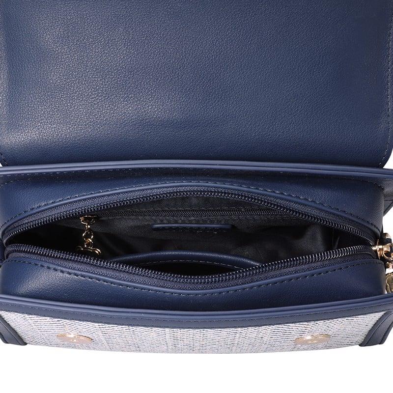 Túi Just Star màu xanh phối dạ phom công sở sang trọng  172393-06