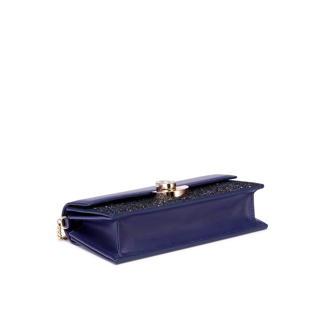 Túi Nucelle  1171553-06 dự tiệc sang trọng đá cánh quạt xanh