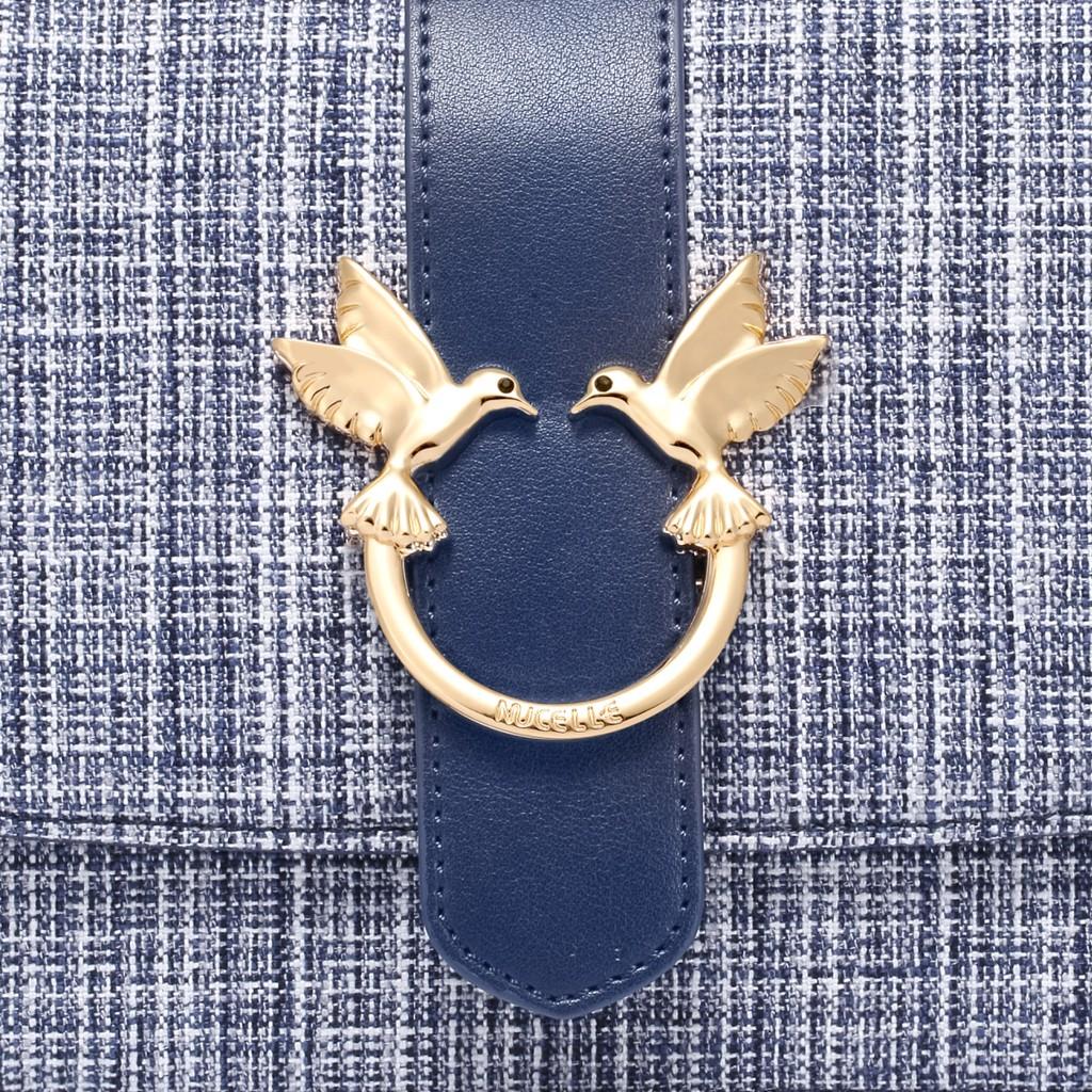 Túi Nucelle đôi chim sang trọng - xanh đậm
