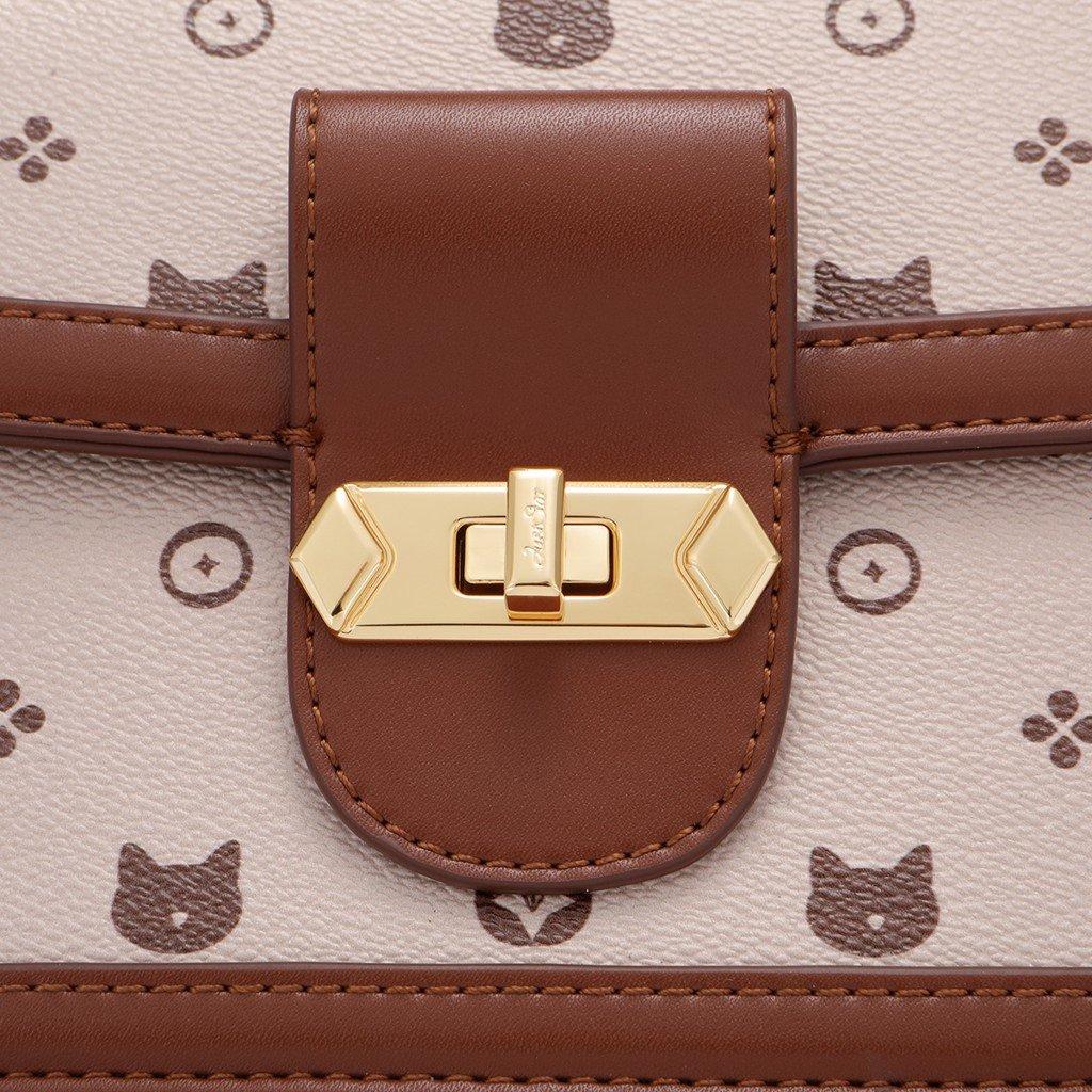 Túi xách hoạ tiết mèo sang trọng  Just Star